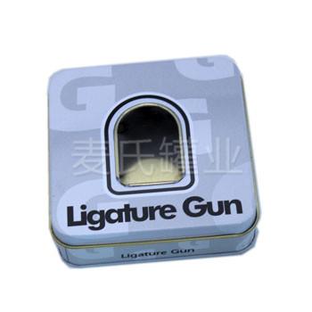 喷枪铁盒 开窗礼品包装盒设计