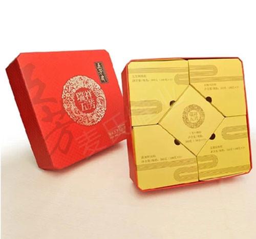 五芳斋粽子包装铁盒展开图