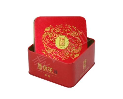 茶叶包装盒设计|方形茶叶铁罐子|定制茶叶铁皮盒