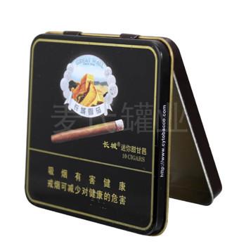 长城雪茄铁皮盒定制加工生产热线:400-8373-828