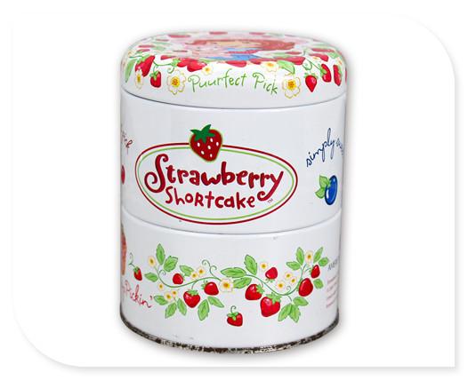 精美糖果包装铁罐子正面图