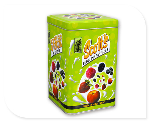 方形糖果铁皮罐子