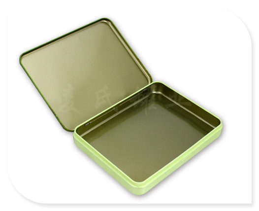 长方形翻盖茶叶铁盒展开图图片