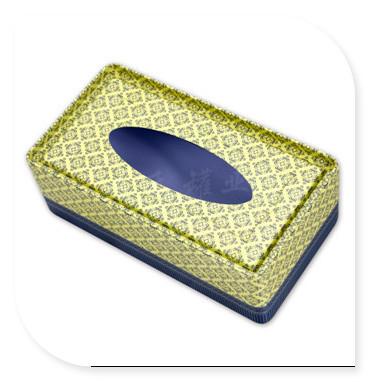厂家定做花纹开窗式纸巾盒|创意抽纸包装铁盒子