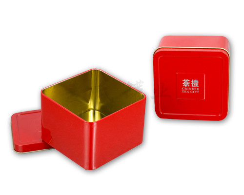 铁盒厂家-正方形茶礼铁盒