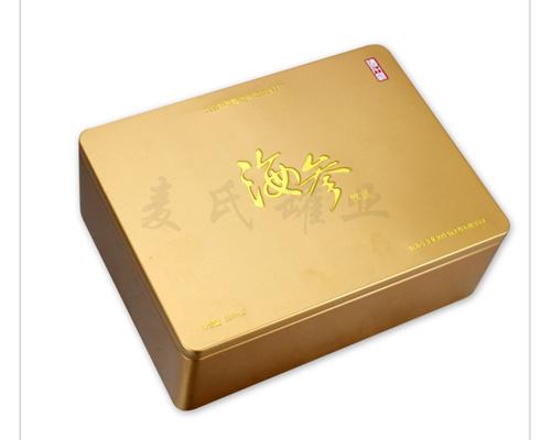 为产品进行的容器结构造型和铁盒包装的美化装饰设计,而海产品铁盒