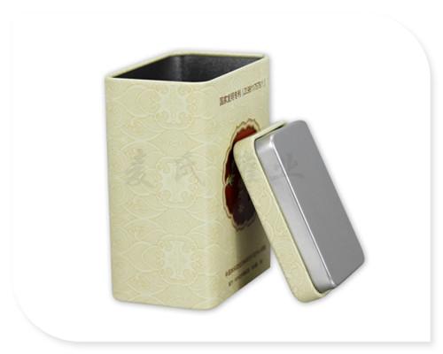 长方形花茶铁皮罐子