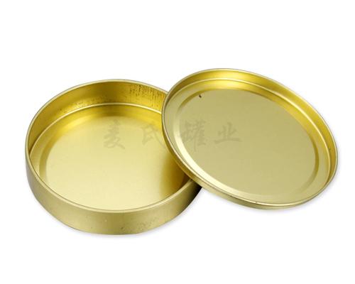 圆形面霜铁皮盒子,化妆品马口铁盒包装