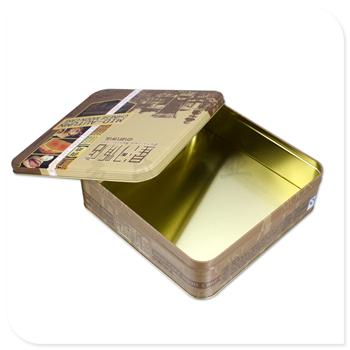 正方形月饼铁盒子,酒店月饼铁皮盒