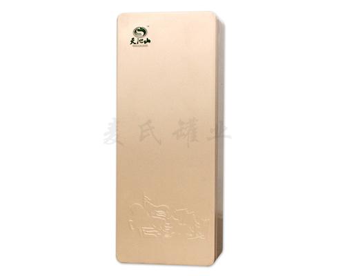 长方形茶叶包装铁盒,经典长方结构设计,是新颖具有创意的外观设计