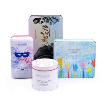 高档v7素颜霜铁盒,方形眼膜铁盒包装,护手霜